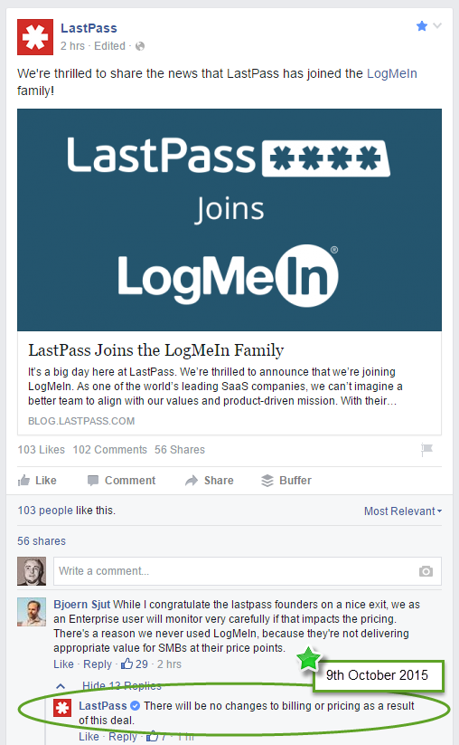 """LastPass Commits to """"No Changes"""" Following Purchase by LogMeIn"""