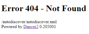 Setting up Outlook with local Autodiscover